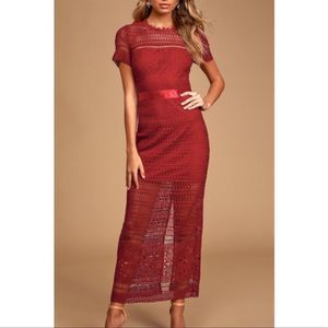 Lulus Love For You Crochet Lace Maxi Dress S